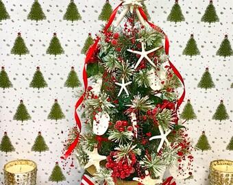Tabletop Christmas Tree - Beach Style Beach Christmas Ornaments Star Fish Starfish