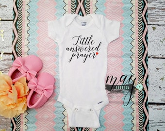 Little Answered Prayer Onesie - Faith Onesie - Christian Bodysuit
