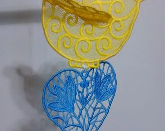 mobile, bird mobile, owl mobile, humming bird mobile, yellow bird, blue bird, cardinal mobile, bird house mobile, dove mobile, bird ornament