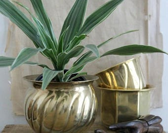 Vintage Decorative Brass Planter
