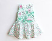 MERMAID Girl Baby Girl Dress Overall sewing pattern Pdf, Baby Girl Pinafore sewing pattern, newborn - 10 years, Instant Download
