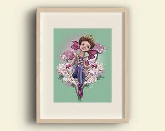 Queen Anne's Lace Fine Art Print   digital painting garden flower fairy/fae/sprite print • premium velvet paper • 8x10 / 5x7 / 4x6 inches