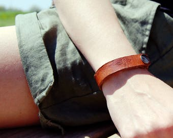 Leather Bee Bracelets // Honeybee Bracelets // Hand Stamped Leather // Glass Goat at River Road Farm