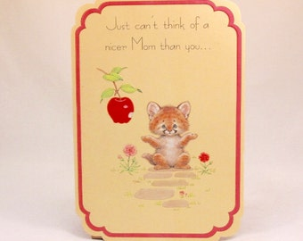 Mothers Day Greeting Card and Envelope. Love 'n Kisses by Drawing Board. Cute Cat