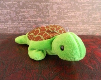 "Ty Bro""wn And Green Turtle Beanie Baby ""Speedy"" (B)"