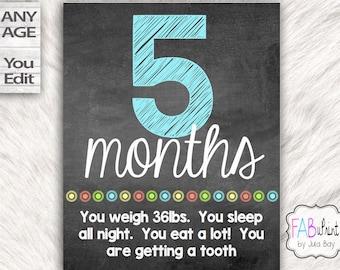 Editable Baby Milestone Sign,  Baby Milestone Chalkboard, Baby Chalkboard, Baby Milestone Cards, Printable Milestone Poster, Boy Chalkboard