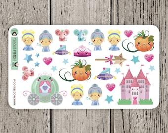 30 Princess Cinderella Stickers / Planner Stickers