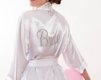 Bride Robe/Satin Robe/Bridal Party Robe