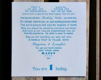 1st Birthday Card, Baby's 1st Birthday, First Birthday card
