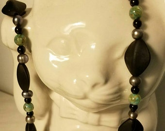 Aqua Mysteries 28 Inch Semi Precious Beaded Necklace