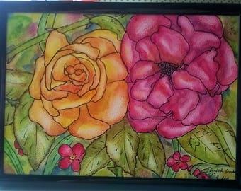 English Garden Original Watercolour
