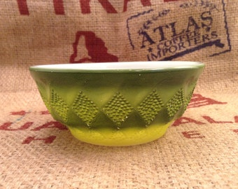 Fire King Green Kimberly Cereal Bowl #21