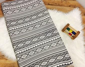 Custom Baby Bedding// Gray Tribal  //Modern// Changing Pad Cover