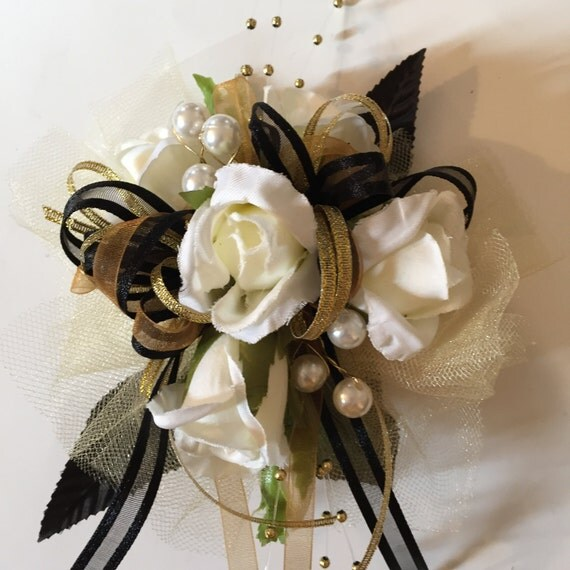 Black And Gold Wrist Corsages Other Dresses Dressesss