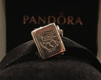 Authentic Pandora Sterling Silver Pandora Study Text Books Pandora Charm Genuine Pandora Bead