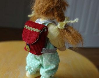 Doll backpack, doll bookbag