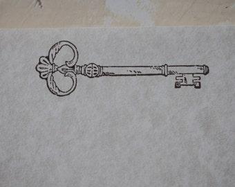 Key Stationery, Skeleton Key, Writing Paper, Letter Writing Set, Stamped Stationery, Vintage Key, Vintage Stationery, Stationery Set