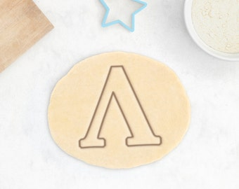 lambda symbol cookie cutter greek letter cookie cutter college sorority chemistry physics science cookie cutter cupcake 3d printed