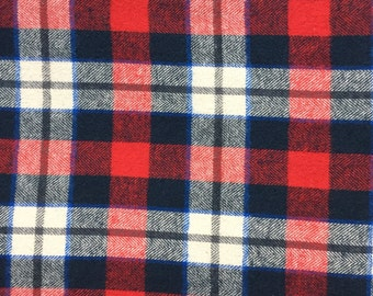Flannel Blue and Red Plaid - Custom Bibdanas, Scarves, Bloomers