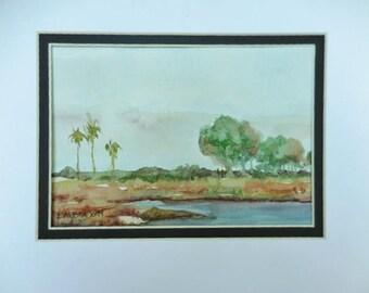 Florida watercolor, original painting,