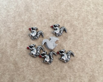 Floating Charms - Squirrel - For Memory Locket - 1 Piece