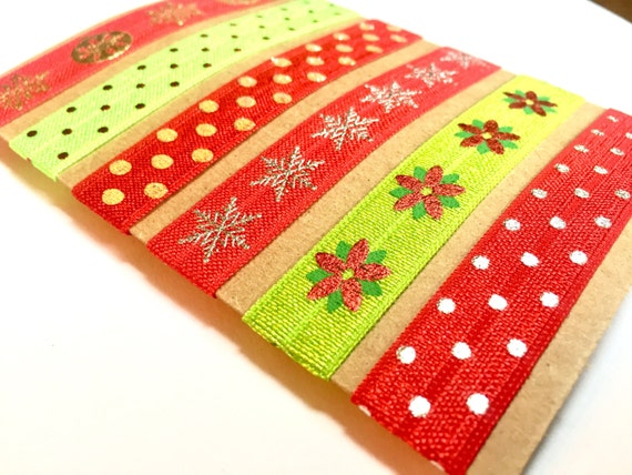 Red and Green Holiday Hair Ties