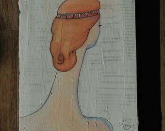 "Pastel Surreal Painting -  Original piece titled ""The Brain Organ"""