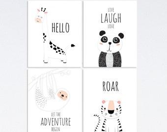 Baby Nursery Wall Art, Nursery Wall Art, Nursery Animal Print