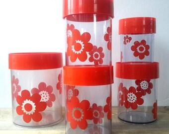 Set, Erik Kold, inventory buses Erik Kold, Danish kitchen design, Scandinavian design, plastic fantastic, kitchen red, kitchen 70s, camping, 70