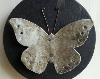 Upcycled Butterfly Wall Art.
