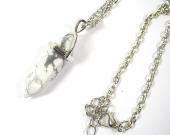 Hexagonal Marble Column Necklace Natural Crystal Gift