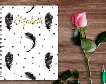 Personalized Journal, Journal, Spiral Notebook, Monogram Stationary, Diary, Notebook