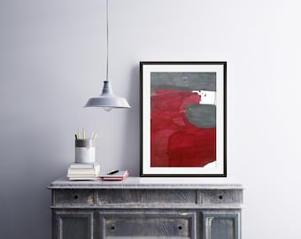 Abstract Painting - Abstract Acrylic Painting - Red Abstract Painting - White And Red Abstract Painting - Original Modern Art