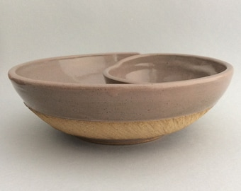 Stoneware Chip and Dip Bowl