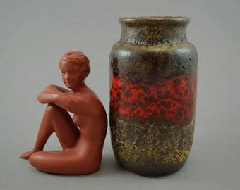 Vintage vase made by Scheurich / 231 15 / Fat Lava | West German Pottery | 60s