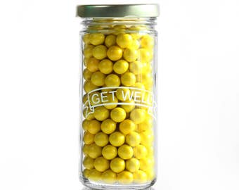 CLEARANCE (Set of 9) Get Well Jar; 8 oz glass jar