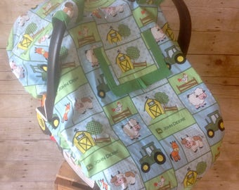 Down on the Farm Infant Car Seat Canopy/Foot Muff Set