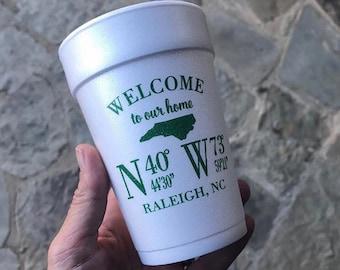 14 oz personalized Foam Cups