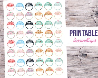 Printable Planner Stickers Winter Chore Circles for Erin Condren MAMBI Happy Planner Glam Planing Christmas Patterns Today Priority Chores