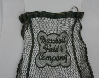 Vintage Marshall Field & Company mesh shopping bag, probably 40s-50s era.