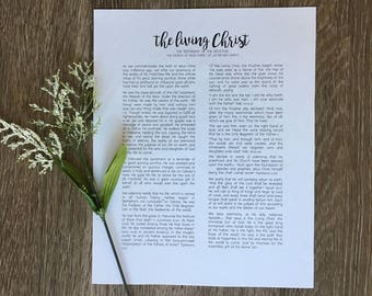 8x10 DIGITAL DOWNLOAD The Living Christ print / LDS / Mormon / Living Christ print / Instant Download print