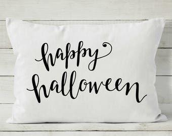 Happy Halloween Pillow - Halloween Decor - 12 x 16 Pillow Cover - Decorative Throw Pillow Cover