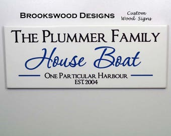 House Boat Etsy - Custom houseboat vinyl names