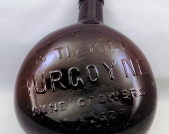 Burgoyne Wine Bottle, Wine Growers To The King, Australian Wine Vineyards