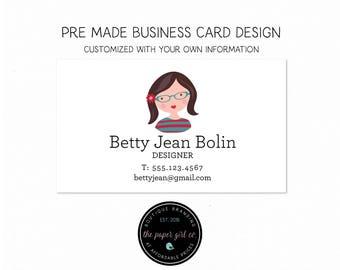 business card girl character biz card design biz card accountant biz card decorator biz card premade business card calling card social card