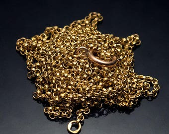 Antique Russian 66 in. Long Gold Chain Necklace