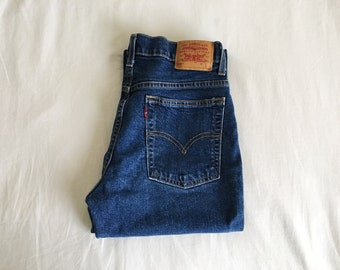 Vintage 90s Levi's Red Tab 515 High Waist Boot Cut Jeans
