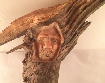 Tree Spirit Pine Knot Carving