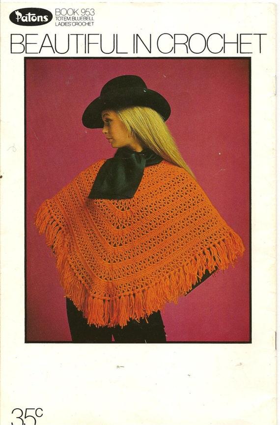 Vintage Patons Crochet Pattern Pamphlet Book 953 Beautiful