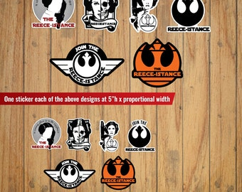 Join The Reece-istance Star Wars Decal/Sticker Set